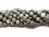 8mm grå sten perler
