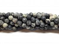 8mm facetslebne stribede perler