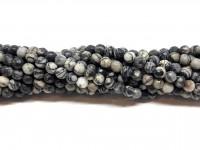 4mm facetslebne stribede perler