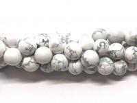 12mm matte hvide howlite perler