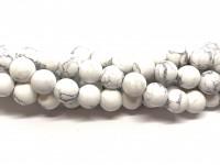 10mm matte hvide howlite perler