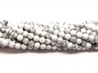 4mm matte hvide howlite perler
