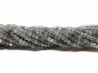 2x3mm facetslebne labradorit perler