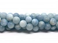 10mm runde aquamarin perler