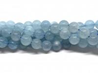 8mm runde aquamarin perler