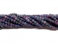 3mm facetslebet rubin og safir perler