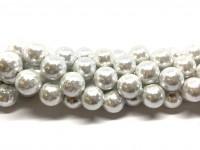 14mm rynkede hvide shell perler