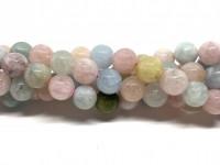 10mm perler af morganit