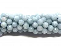 8mm facetslebne aquamarin perler