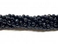 4mm facetslebet sort spinel