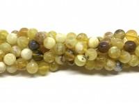 8mm perler af gul opal