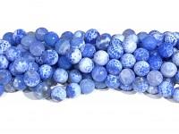 12mm blå ild agat perler