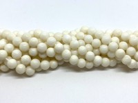 6mm hvide koral perler