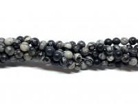 4mm black veined jaspis