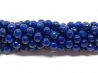 8mm facetslebne turkis blå farvede perler