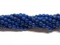 6mm facetslebne turkis blå farvede perler