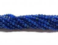 4mm facetslebne turkis blå farvede perler