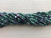 4mm runde perler af rubin zoisit