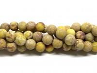10mm mat gul impression jaspis