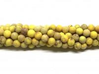 6mm mat gul impression jaspis