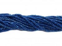 facetslebne metallic blå perler