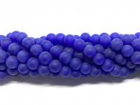 8mm matte blå perler