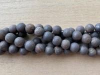 10mm matte bronzite perler