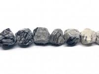 rå nuggets perler af grå sten