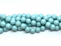 10mm mint blå perler