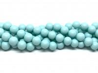 8mm mint blå perler