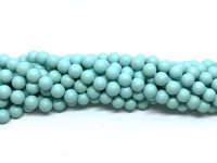 6mm mint blå perler