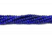 Lapis Lazuli, semi mat rund 3mm, hel streng-20