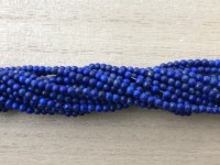 2mm matte lapis lazuli perler