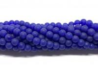 6mm matte blå perler