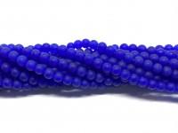 4mm matte blå perler