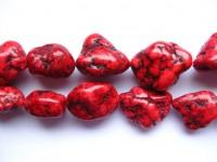 røde magnesit nuggets perler