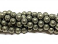 10mm runde pyrit perler