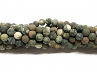 6mm matte polar jaspis perler