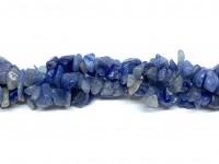 blå aventurin chips perler