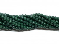 4mm naturlig malakit perler