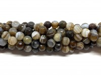 lys brun stribet agat 8mm