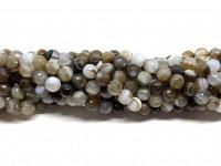 lys brun stribet agat 6mm