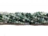 3mm matte mos agat perler