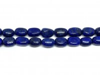 polerede perler af lapis lazuli