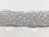 6mm runde perler af klar krystal