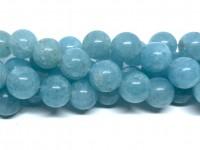 12mm blå svampekvarts perler