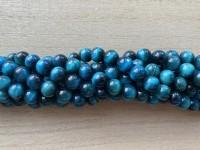 8mm turkis blå tigerøje perler