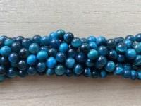 6mm turkis blå tigerøje perler