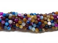 6mm facetslebne stribede perler