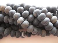sorte matte rondel perler